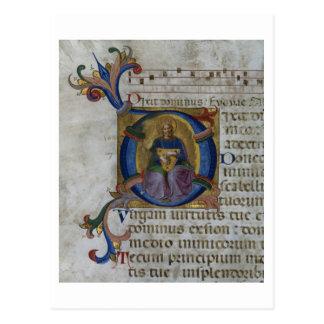 "Initiale ""D"" de Mme 531 f.169v Historiated Carte Postale"
