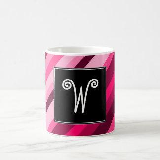 Initiale de coutume + Tasse rose/magenta de motif