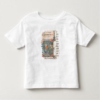 Initiale de Historiated dépeignant le jeu du Roi T-shirt Pour Les Tous Petits