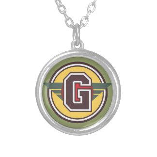 """Initiale de la lettre """"G"""" de monogramme de Deco Pendentif Rond"""