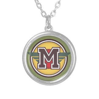 """Initiale de la lettre """"M"""" de monogramme de Deco Pendentif Rond"""