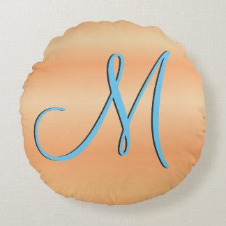 Initiale de monogramme du bouleau rouge 3d coussin rond