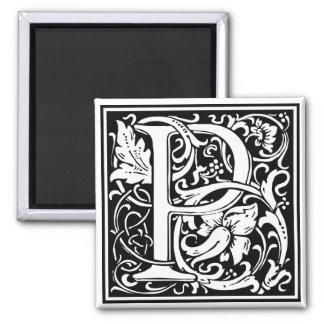 """Initiale décorative """"P"""" de lettre Magnet Carré"""