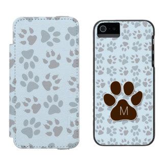 Initiale décorée d'un monogramme et empreintes de coque-portefeuille iPhone 5 incipio watson™