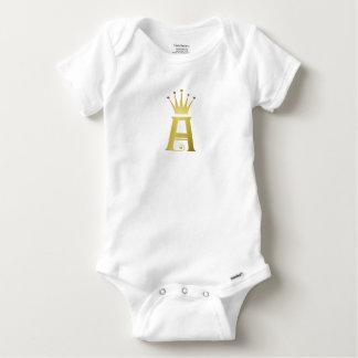 Initiale d'or une combinaison de bébé de body