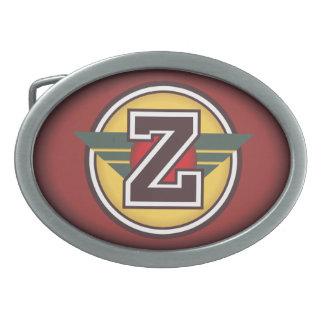 Initiale faite sur commande personnalisée Z Boucles De Ceinture Ovales