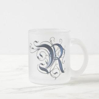 Initiale vintage R Mug En Verre Givré