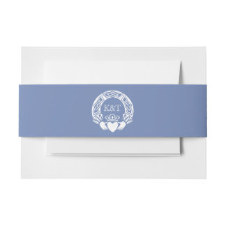 Initiales de Claddagh - bleuet Bandeaux De Faire-part