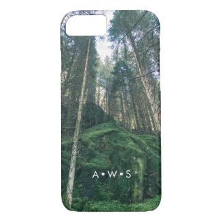 Initiales personnalisées par paysage de forêt coque iPhone 7