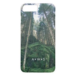 Initiales personnalisées par paysage de forêt coque iPhone 7 plus