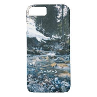 Initiales personnalisées par paysage naturel coque iPhone 7