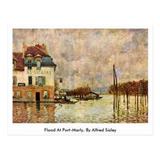 Inondation à Port-Marneux, par Alfred Sisley Carte Postale