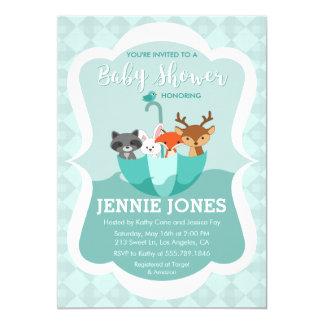 Inondé avec l'invitation animale de baby shower carton d'invitation  12,7 cm x 17,78 cm