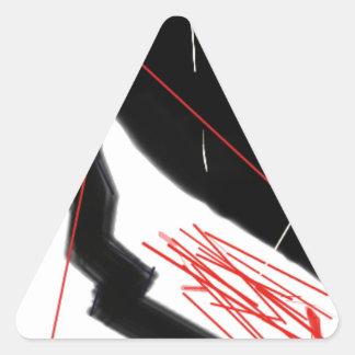 Inquiétude Sticker Triangulaire