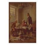 Inscription de la déclaration d'indépendance de affiche