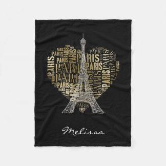 Inscriptions d'or Paris de Tour Eiffel   au coeur