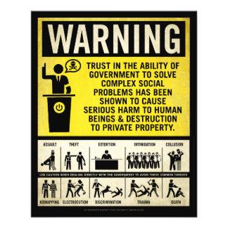 Insecte d avertissement de gouvernement prospectus customisé