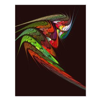 Insecte d'art abstrait de caméléon prospectus 21,6 cm x 24,94 cm