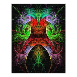 Insecte d'art abstrait de Carnaval Prospectus 21,6 Cm X 24,94 Cm