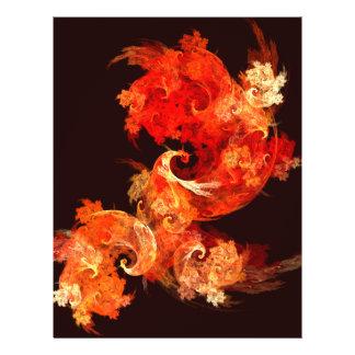 Insecte d'art abstrait de Firebirds de danse Prospectus 21,6 Cm X 24,94 Cm