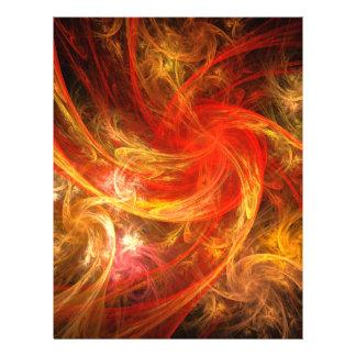 Insecte d'art abstrait de nova de tempête de feu prospectus 21,6 cm x 24,94 cm