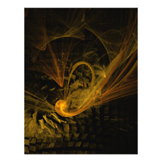 Insecte d'art abstrait de point d'arrêt prospectus 21,6 cm x 24,94 cm