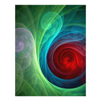 Insecte d'art abstrait de Red Storm Prospectus 21,6 Cm X 24,94 Cm
