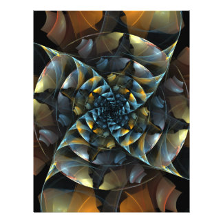 Insecte d'art abstrait de soleil prospectus 21,6 cm x 24,94 cm