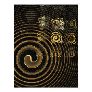 Insecte d'art abstrait d'hypnose prospectus 21,6 cm x 24,94 cm