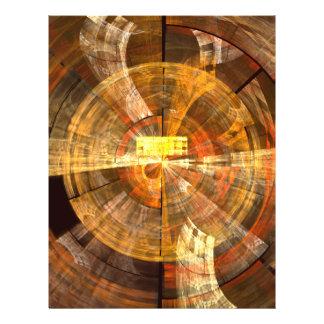 Insecte d'art abstrait d'intégrité prospectus 21,6 cm x 24,94 cm