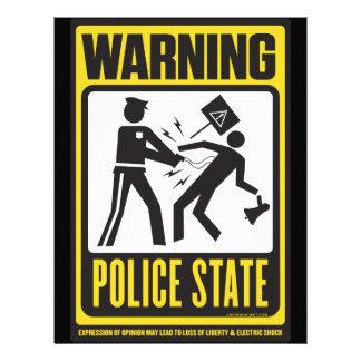 Insecte d'avertissement d'état policier tract