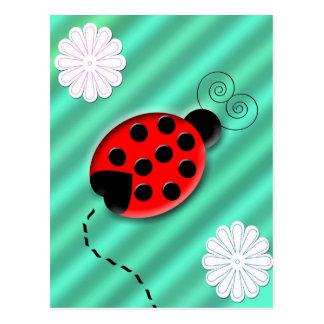 insecte de dame carte postale