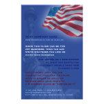 Insecte de drapeau américain prospectus 14 cm x 21,6 cm