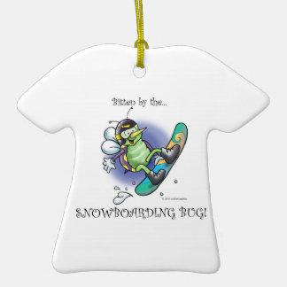 insecte de snowboarding ornement t-shirt en céramique