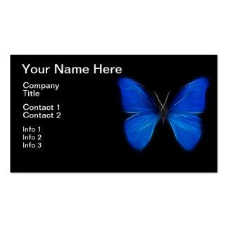 Insecte de vol bleu de papillon carte de visite standard