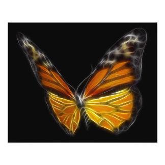 Insecte de vol orange de papillon de monarque prospectus 11,4 cm x 14,2 cm
