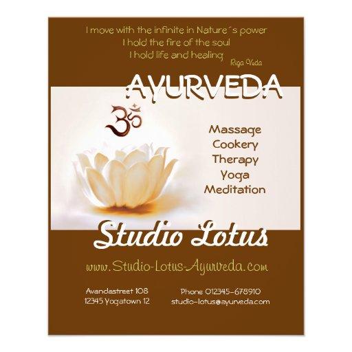 Insecte Lotus de publicitie de yoga d'Ayurveda ave Tract