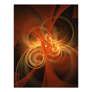 Insecte magique d'art abstrait de matin prospectus 21,6 cm x 24,94 cm