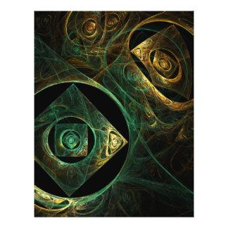 Insecte magique d'art abstrait de vibrations prospectus 21,6 cm x 24,94 cm