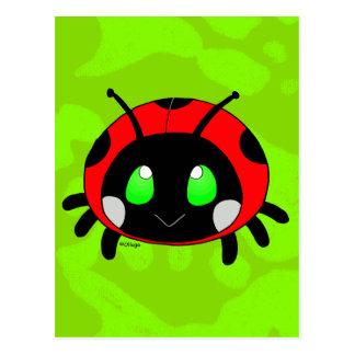 Insecte mignon de dame carte postale