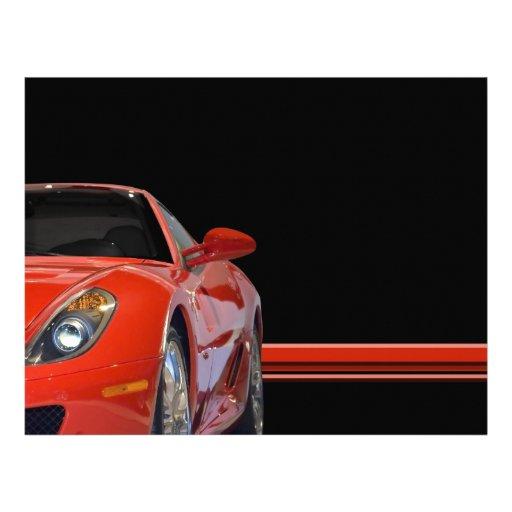 Insecte rouge de voiture de sport prospectus personnalisés