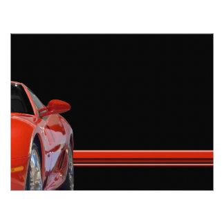 Insecte rouge de voiture de sport prospectus 21,6 cm x 24,94 cm