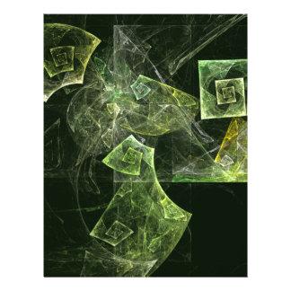 Insecte tordu d'art abstrait d'équilibre prospectus 21,6 cm x 24,94 cm