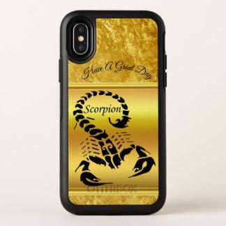 Insecte très venimeux toxique de scorpion d'or