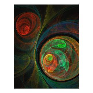 Insecte vert d'art abstrait de renaissance prospectus 21,6 cm x 24,94 cm