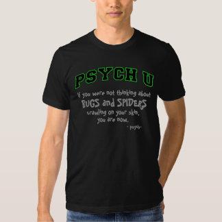 Insectes/araignées verts de la découpe PSYCH U T-shirts
