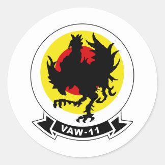 Insectes de l'alpha VAW-11 Sticker Rond