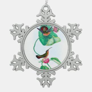 Inséparables de colibri ornement flocon de neige