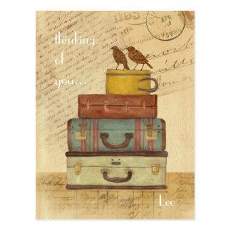 Inséparables pensant à vous carte postale