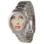 Insérez votre propre bracelet argenté unisexe de montres cadran